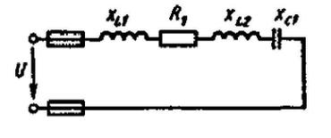 Дано: R1= 16 Ом, XLl = 15 Ом, XL2 = 5 Ом, XCl = 8 Ом, QL1 = 135 вар