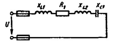 Дано: R1= 6 Ом, XLl = 10 Ом, XL2 = 2 Ом, XCl = 4 Ом, I = 5 А